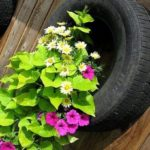 Awesome outdoor junk garden to reuse your old stuff 12