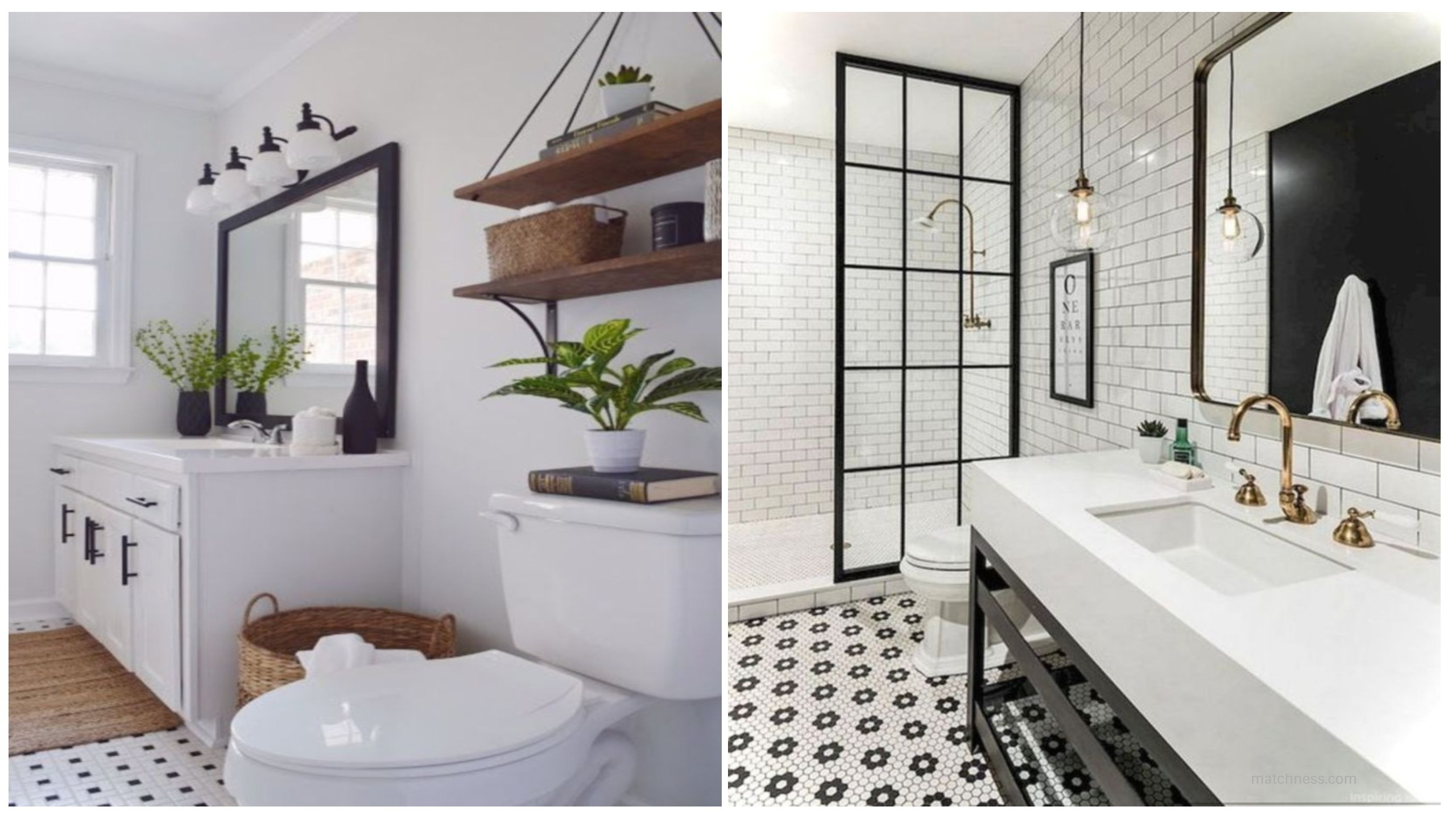 17 Beautiful and Modern Farmhouse Bathroom Design Ideas ... on Modern Farmhouse Shower  id=44944