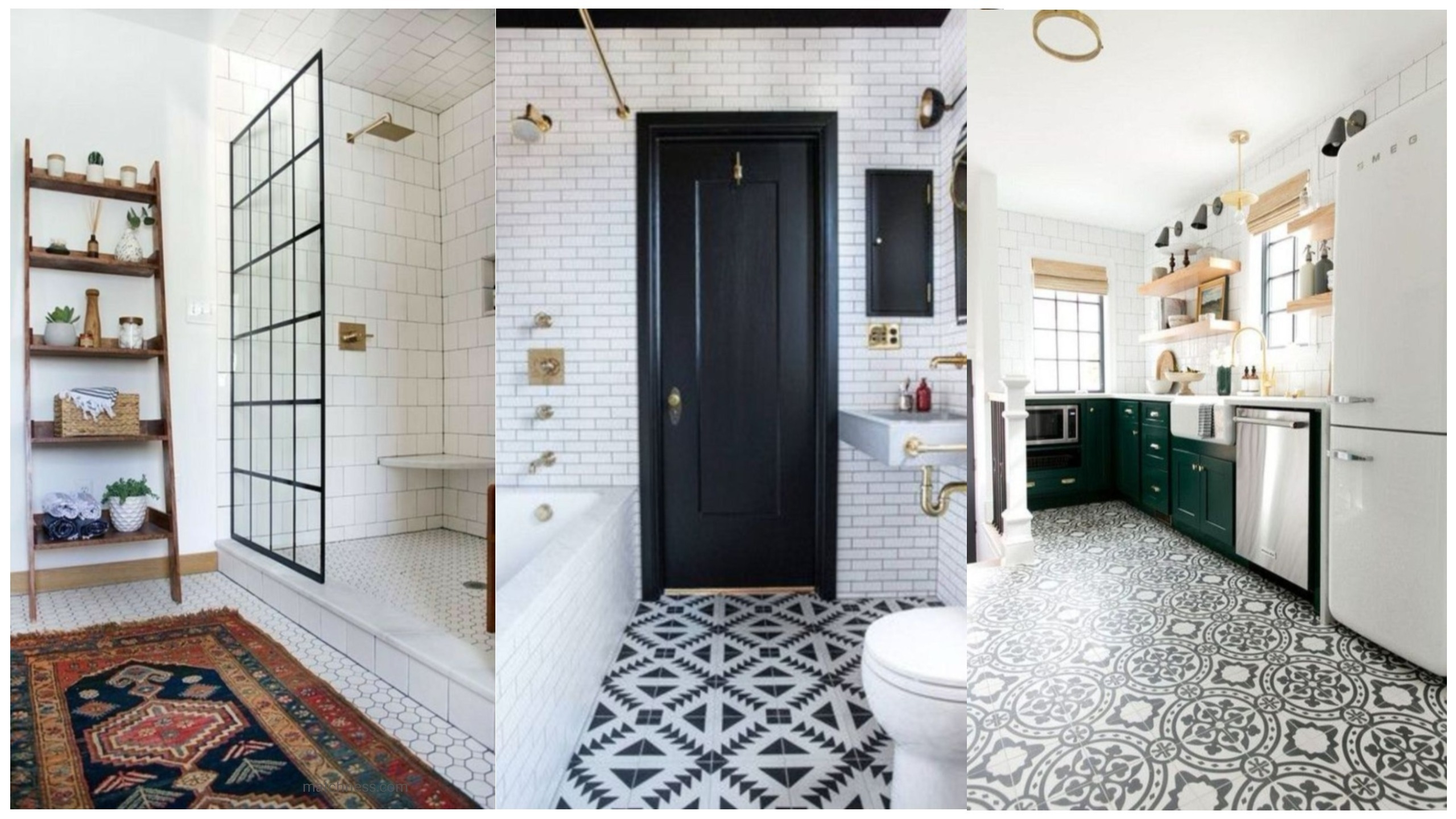 16 Lovely Tile Floor for Your Bathroom and Kitchen - Matchness.com