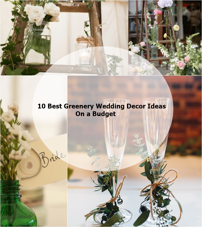 18 Diy Wedding Decorations On A Budget: 10 Best Greenery Wedding Decor Ideas On A Budget