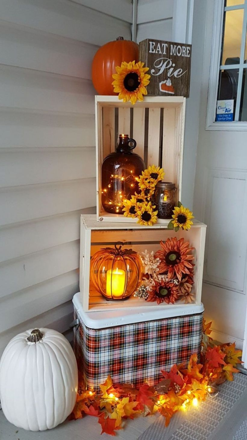 Decorative lighting with pumpkin