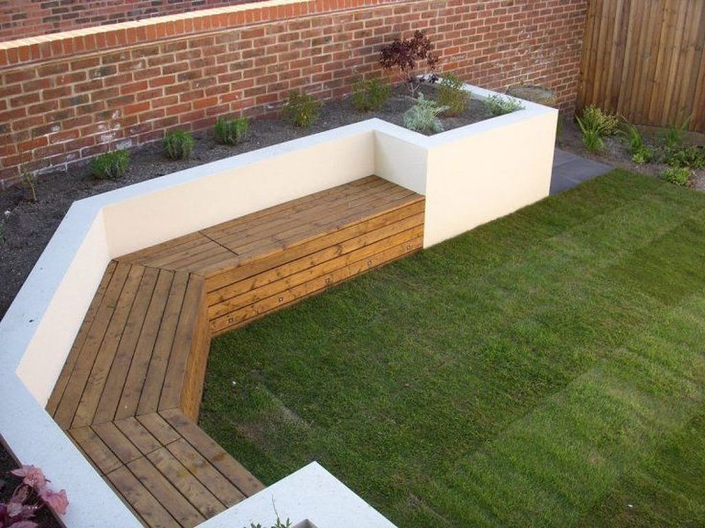 Unique wooden bench to beautify your backyard