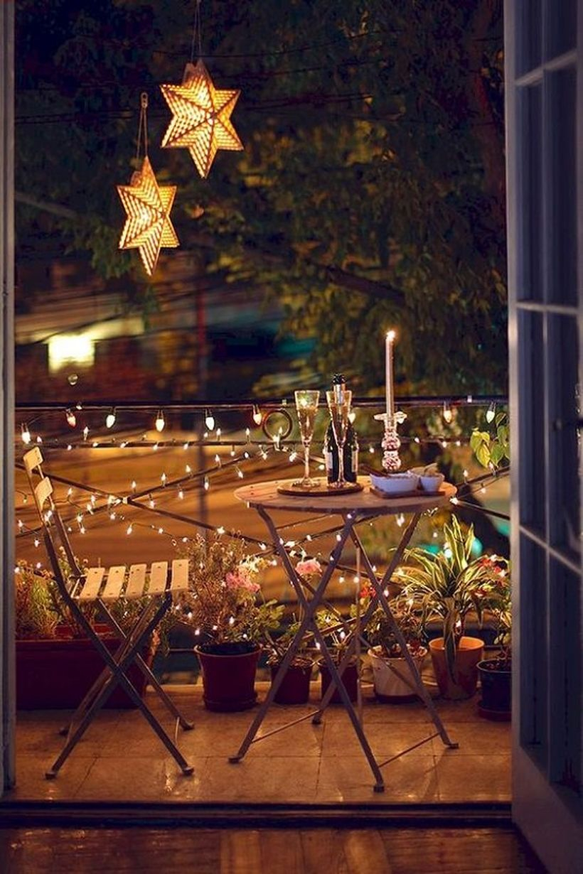 Star and hanging lamps decoration
