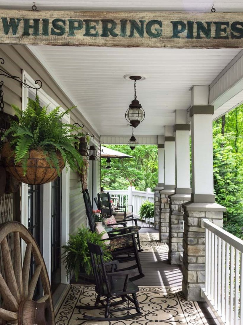 Southern porch design with vintage accents