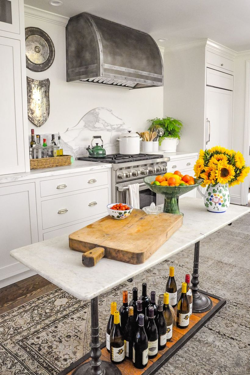 Unique-small-kitchen-island-to-store-a-few-bottles-to-make-your-kitchen-bohemian-style