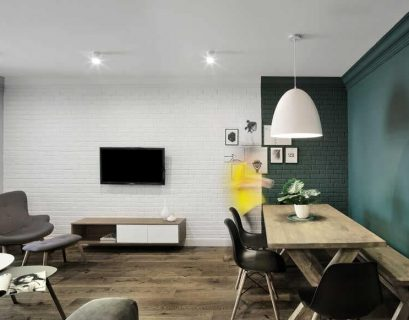 Modern minimalist apartment with simple yet sophisticated interior